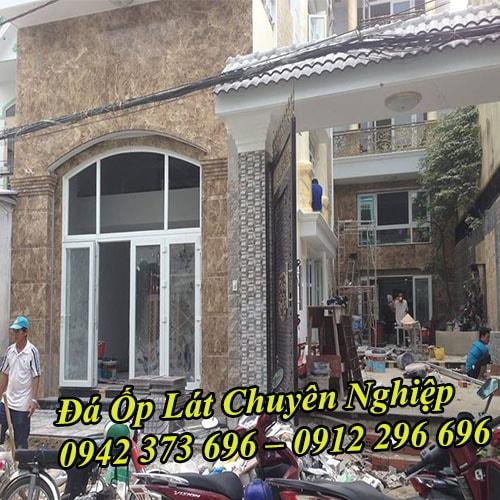 Thi công đá ốp mặt tiền đẹp, đá ốp tường chất lượng tại Hà Nội